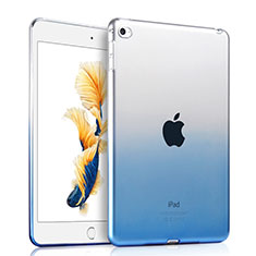 Ultra-thin Transparente Gel Gradient Soft Case para Apple iPad Air 2 Azul