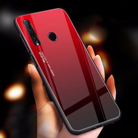 Carcasa Bumper Funda Silicona Espejo Gradiente Arco iris para Huawei Honor 20 Lite Rojo