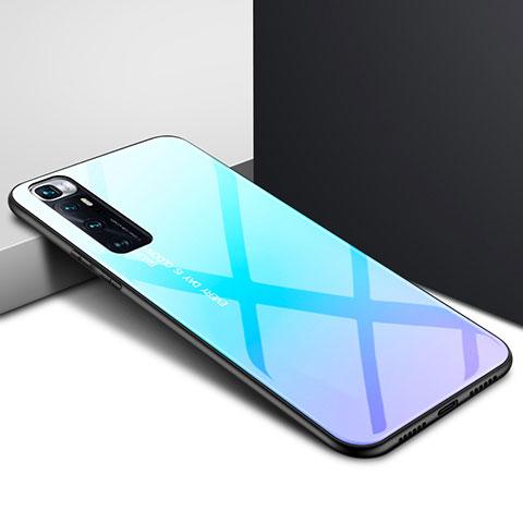 Carcasa Bumper Funda Silicona Espejo para Xiaomi Mi 10 Ultra Azul Cielo