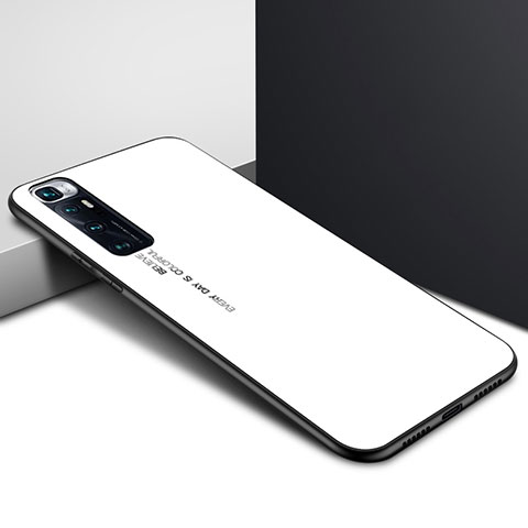 Carcasa Bumper Funda Silicona Espejo para Xiaomi Mi 10 Ultra Blanco