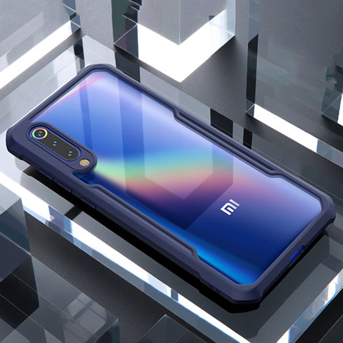 Carcasa Bumper Funda Silicona Transparente Espejo M02 para Xiaomi Mi 9 SE Azul