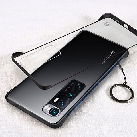 Carcasa Dura Cristal Plastico Funda Rigida Transparente H01 para Xiaomi Mi 10 Ultra Negro