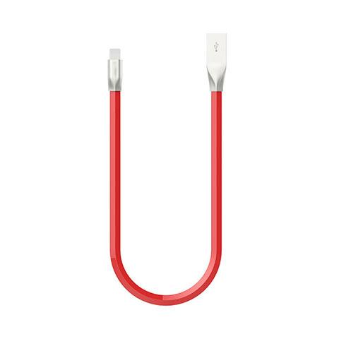 Cargador Cable USB Carga y Datos C06 para Apple iPhone 11 Rojo