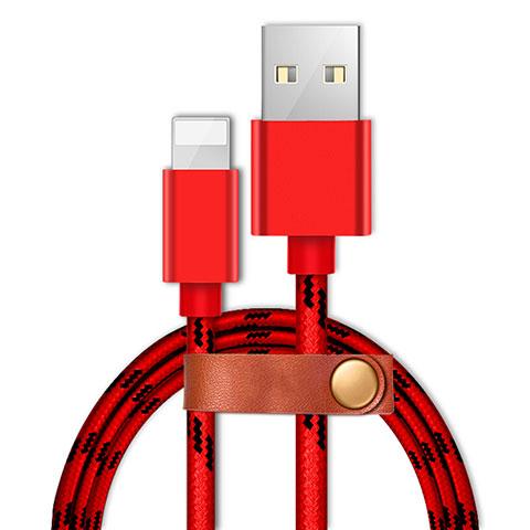 Cargador Cable USB Carga y Datos L05 para Apple iPhone 11 Pro Rojo