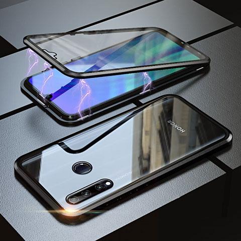 Funda Bumper Lujo Marco de Aluminio Espejo 360 Grados Carcasa para Huawei Honor 20 Lite Negro
