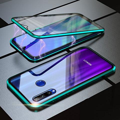 Funda Bumper Lujo Marco de Aluminio Espejo 360 Grados Carcasa para Huawei Honor 20 Lite Verde