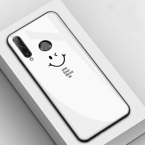 Funda Bumper Silicona Gel Espejo Patron de Moda Carcasa para Huawei Honor 20 Lite Blanco