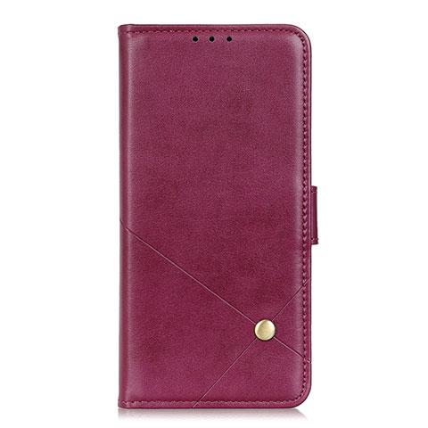 Funda de Cuero Cartera con Soporte Carcasa L02 para Motorola Moto G9 Plus Rojo Rosa