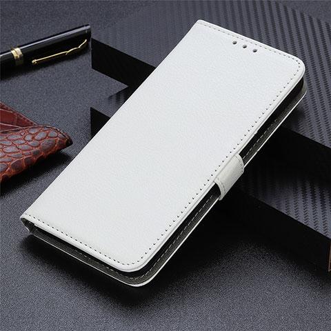 Funda de Cuero Cartera con Soporte Carcasa L03 para Motorola Moto G9 Plus Blanco