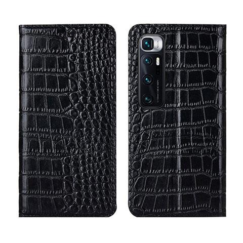 Funda de Cuero Cartera con Soporte Carcasa L04 para Xiaomi Mi 10 Ultra Negro