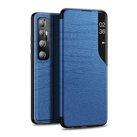 Funda de Cuero Cartera con Soporte Carcasa para Xiaomi Mi 10 Ultra Azul