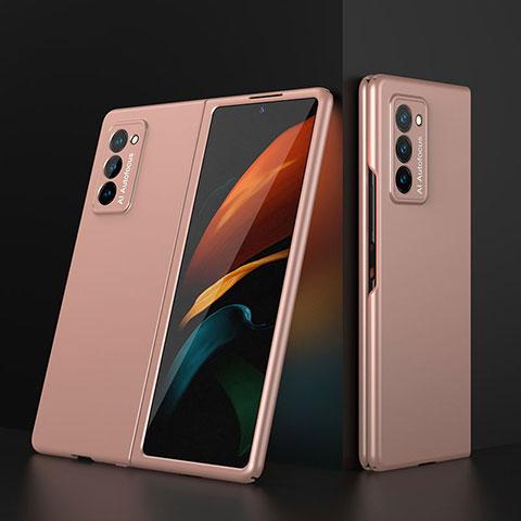 Funda Dura Plastico Rigida Carcasa Mate Frontal y Trasera 360 Grados para Samsung Galaxy Z Fold2 5G Oro