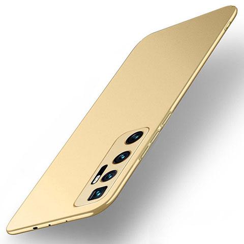 Funda Dura Plastico Rigida Carcasa Mate M01 para Xiaomi Mi 10 Ultra Oro