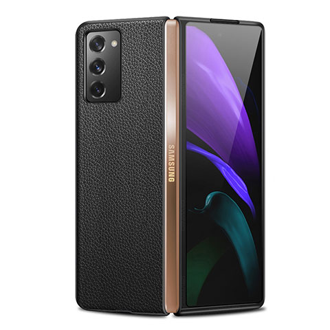 Funda Lujo Cuero Carcasa para Samsung Galaxy Z Fold2 5G Negro