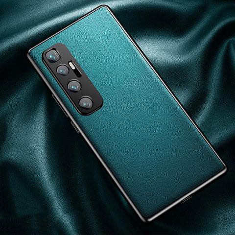 Funda Lujo Cuero Carcasa para Xiaomi Mi 10 Ultra Cian