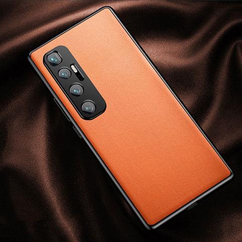 Funda Lujo Cuero Carcasa para Xiaomi Mi 10 Ultra Naranja
