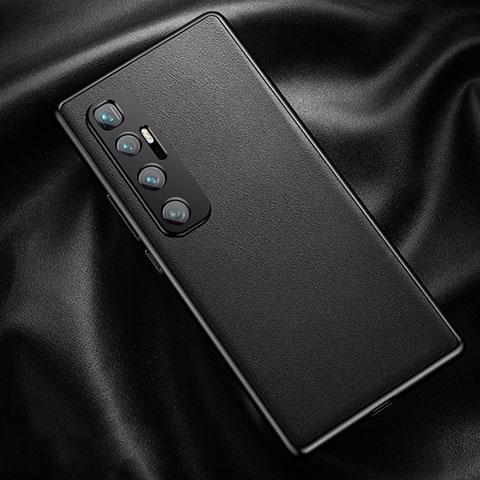 Funda Lujo Cuero Carcasa para Xiaomi Mi 10 Ultra Negro