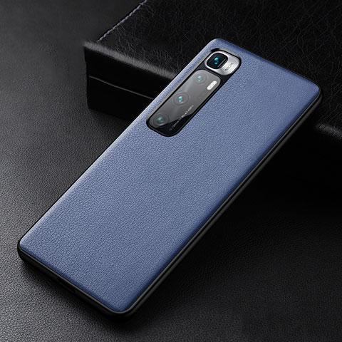 Funda Lujo Cuero Carcasa S01 para Xiaomi Mi 10 Ultra Azul