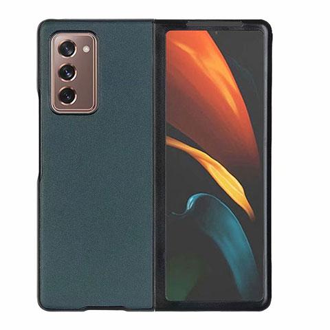 Funda Lujo Cuero Carcasa S03 para Samsung Galaxy Z Fold2 5G Verde