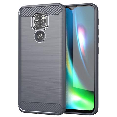 Funda Silicona Carcasa Goma Line S01 para Motorola Moto G9 Gris