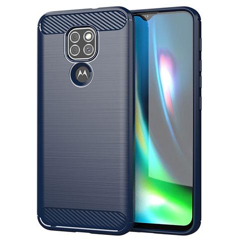 Funda Silicona Carcasa Goma Line S01 para Motorola Moto G9 Play Azul