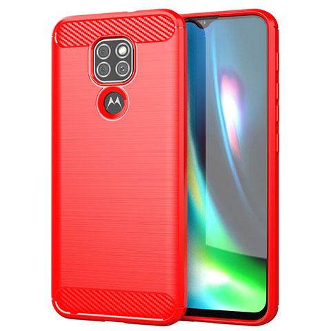 Funda Silicona Carcasa Goma Line S01 para Motorola Moto G9 Rojo