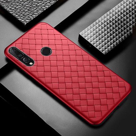 Funda Silicona Goma de Cuero Carcasa A01 para Huawei Honor 20 Lite Rojo