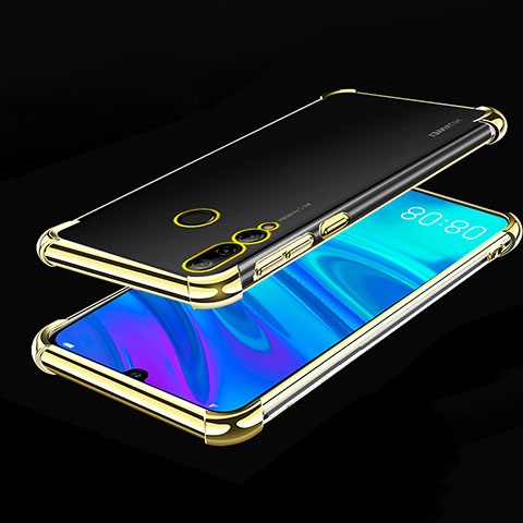 Funda Silicona Ultrafina Carcasa Transparente H01 para Huawei Honor 20 Lite Oro