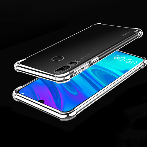 Funda Silicona Ultrafina Carcasa Transparente H01 para Huawei Honor 20 Lite Plata