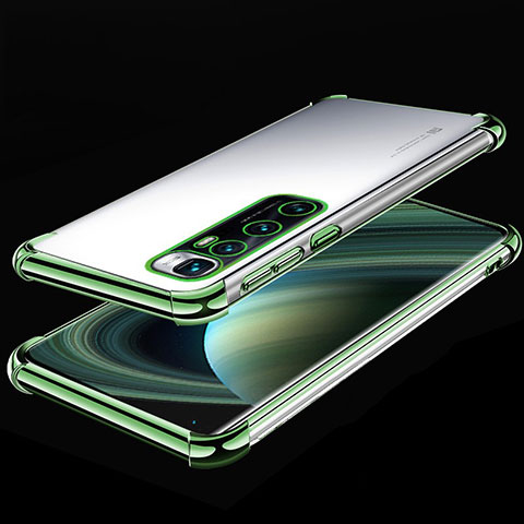 Funda Silicona Ultrafina Carcasa Transparente H04 para Xiaomi Mi 10 Ultra Verde