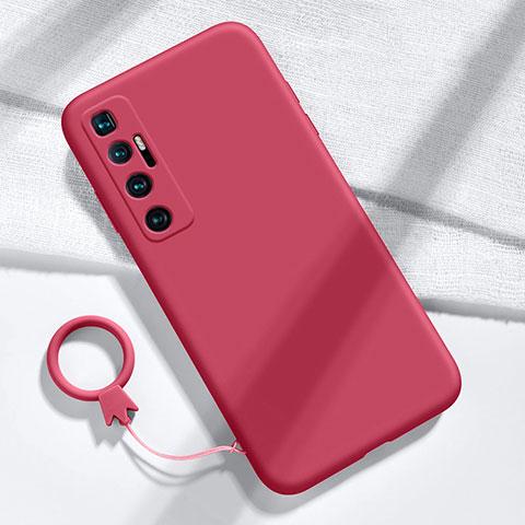 Funda Silicona Ultrafina Goma 360 Grados Carcasa para Xiaomi Mi 10 Ultra Rojo Rosa