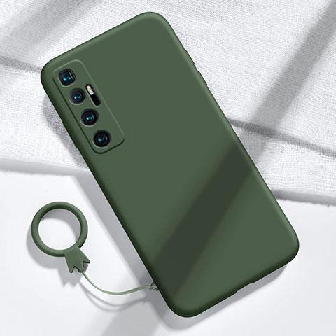 Funda Silicona Ultrafina Goma 360 Grados Carcasa para Xiaomi Mi 10 Ultra Verde Noche