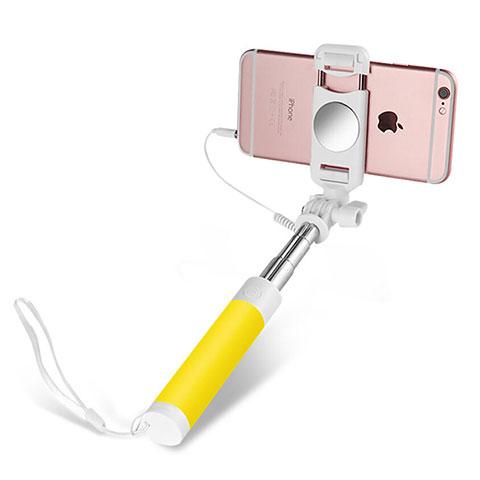 Palo Selfie Stick Extensible Conecta Mediante Cable Universal S02 Amarillo
