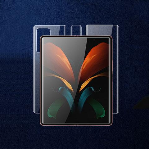 Protector de Pantalla Ultra Clear Frontal y Trasera para Samsung Galaxy Z Fold2 5G Claro