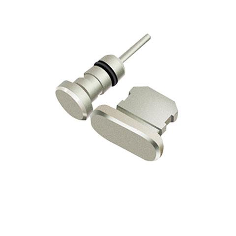 Tapon Antipolvo Lightning USB Jack J01 para Apple iPhone 11 Pro Plata
