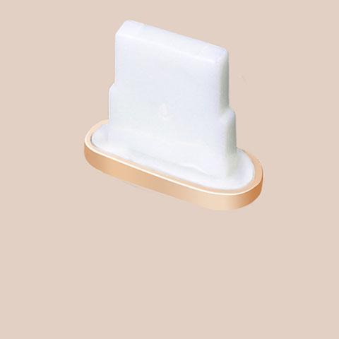 Tapon Antipolvo Lightning USB Jack J07 para Apple iPhone 11 Oro