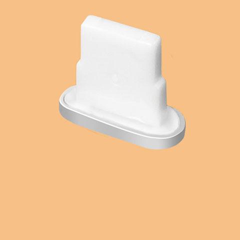 Tapon Antipolvo Lightning USB Jack J07 para Apple iPhone 11 Pro Plata