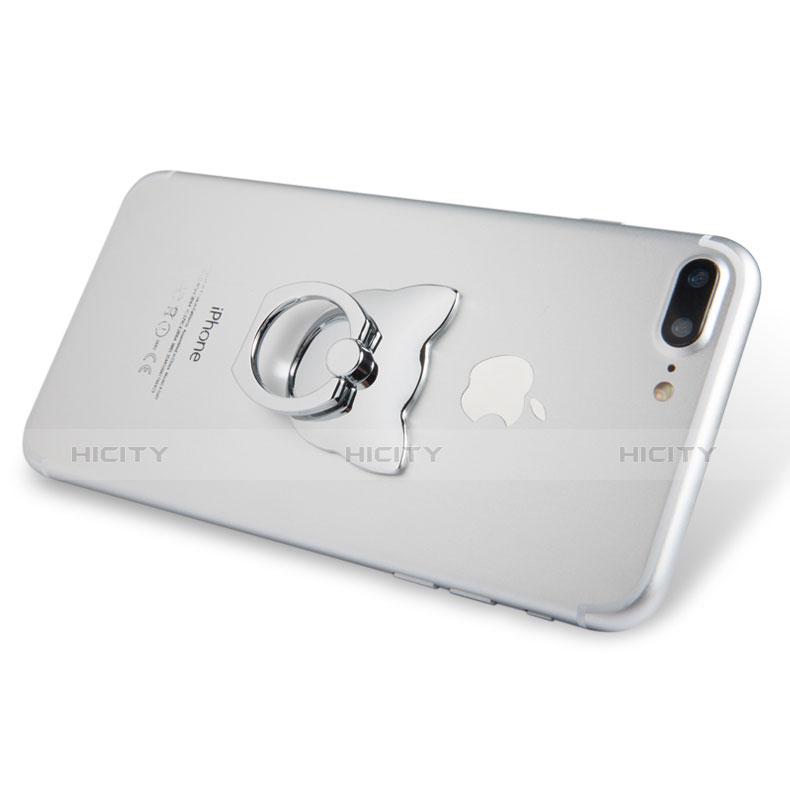 Anillo de dedo Soporte Universal Sostenedor De Telefono Movil R04 Plata
