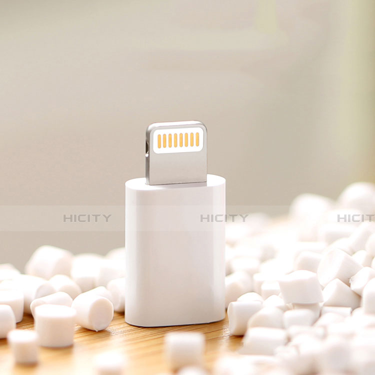 Cable Adaptador Android Micro USB a Lightning USB H01 para Apple iPhone 11 Blanco
