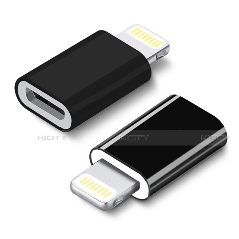 Cable Adaptador Android Micro USB a Lightning USB H01 para Apple iPhone 11 Negro