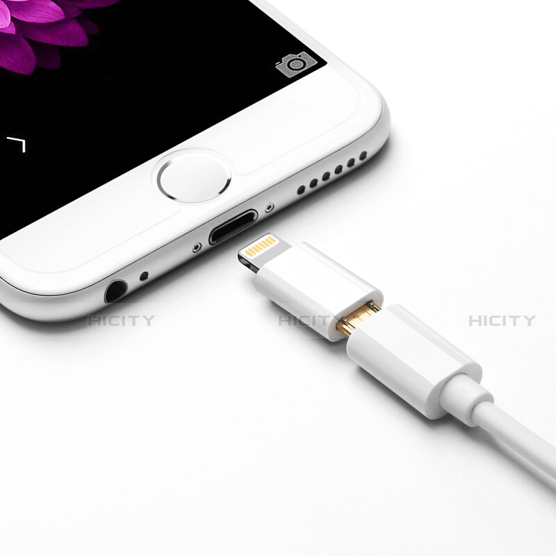 Cable Adaptador Android Micro USB a Lightning USB H01 para Apple iPhone 11 Pro Blanco