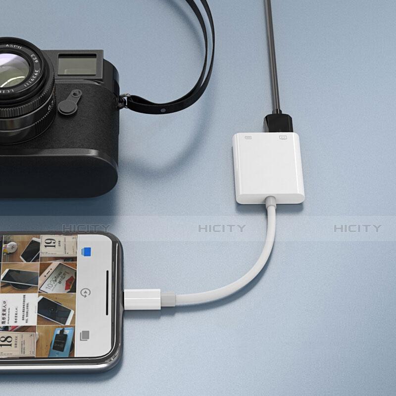 Cable Adaptador Lightning a USB OTG H01 para Apple iPhone 11 Pro Blanco