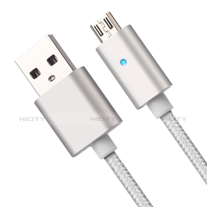 Cable USB 2.0 Android Universal A08 Plata