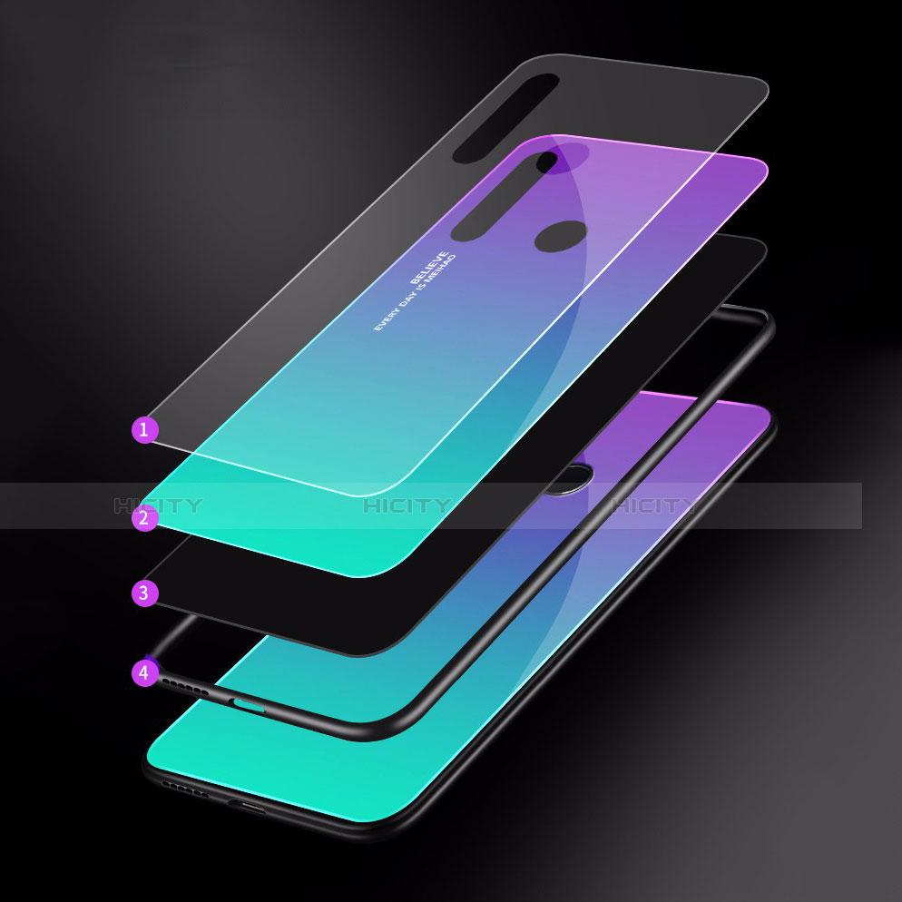 Carcasa Bumper Funda Silicona Espejo Gradiente Arco iris para Huawei Honor 20 Lite