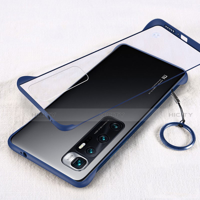 Carcasa Dura Cristal Plastico Funda Rigida Transparente H01 para Xiaomi Mi 10 Ultra Azul