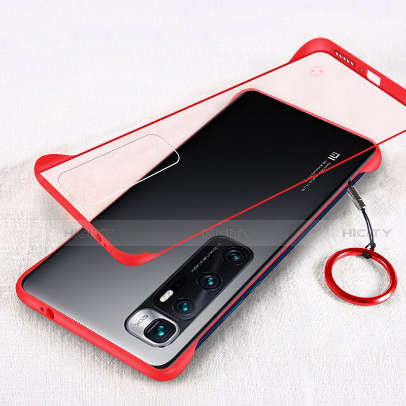 Carcasa Dura Cristal Plastico Funda Rigida Transparente H01 para Xiaomi Mi 10 Ultra Rojo
