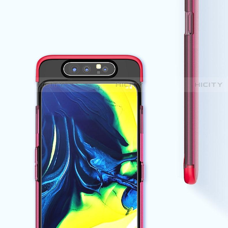 Carcasa Dura Cristal Plastico Funda Rigida Transparente H02 para Samsung Galaxy A80