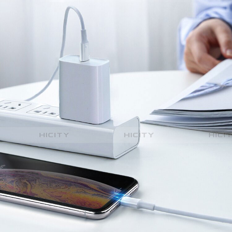 Cargador Cable USB Carga y Datos C02 para Apple iPhone 11 Pro Blanco