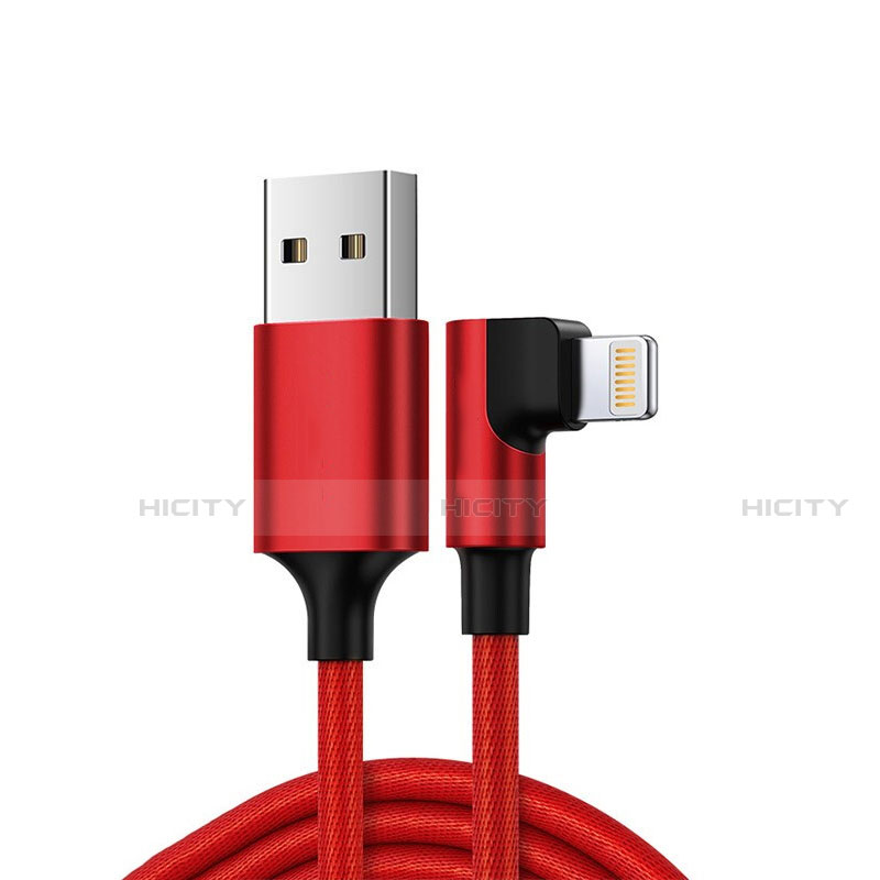 Cargador Cable USB Carga y Datos C10 para Apple iPhone 11 Rojo
