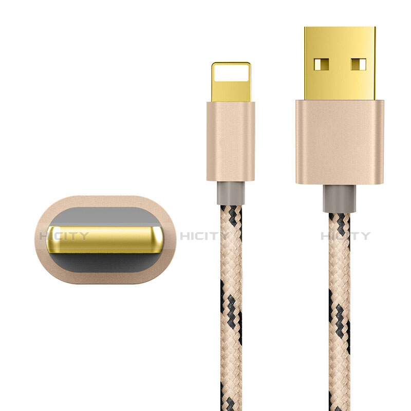 Cargador Cable USB Carga y Datos L01 para Apple iPhone 11 Oro